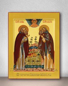 Икона «Зосима и Савватий Соловецкие, прп.» (образец №2)